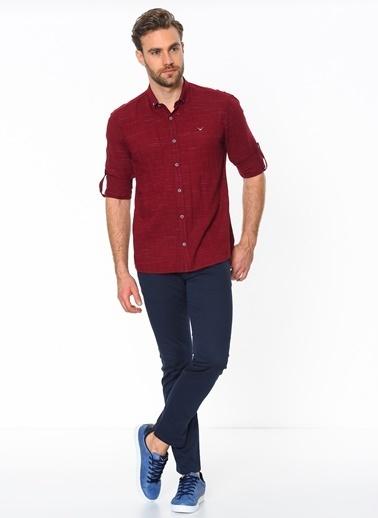Uzun Kollu Slim Fit Oxford Gömlek-Cazador